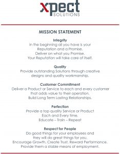 xpect solutions mission statements