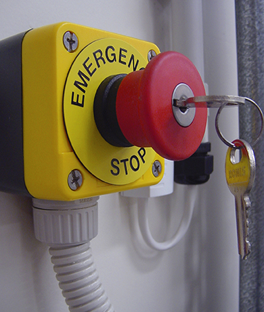 Red and Yellow Emergency Stop with Key